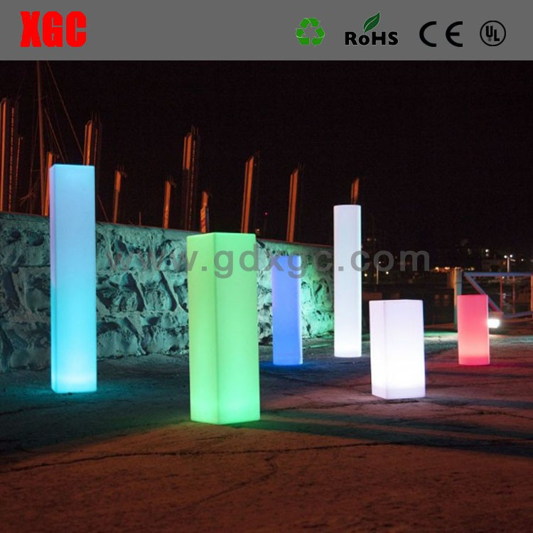 pillar with led lighting for wedding party, decorative round pillars for weddings