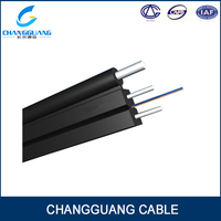 Self-supporting bow-type drop cable indoor/outdoor FTTH fiber optic cable equipment