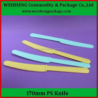 Disposable Plastic Cutlery Kit, Disposable Plastic knife hard PS plastic knife