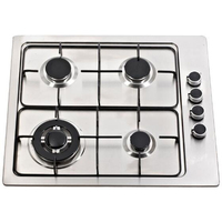 High quality stainless steel panel cooking appliance 4 burner built in gas hob