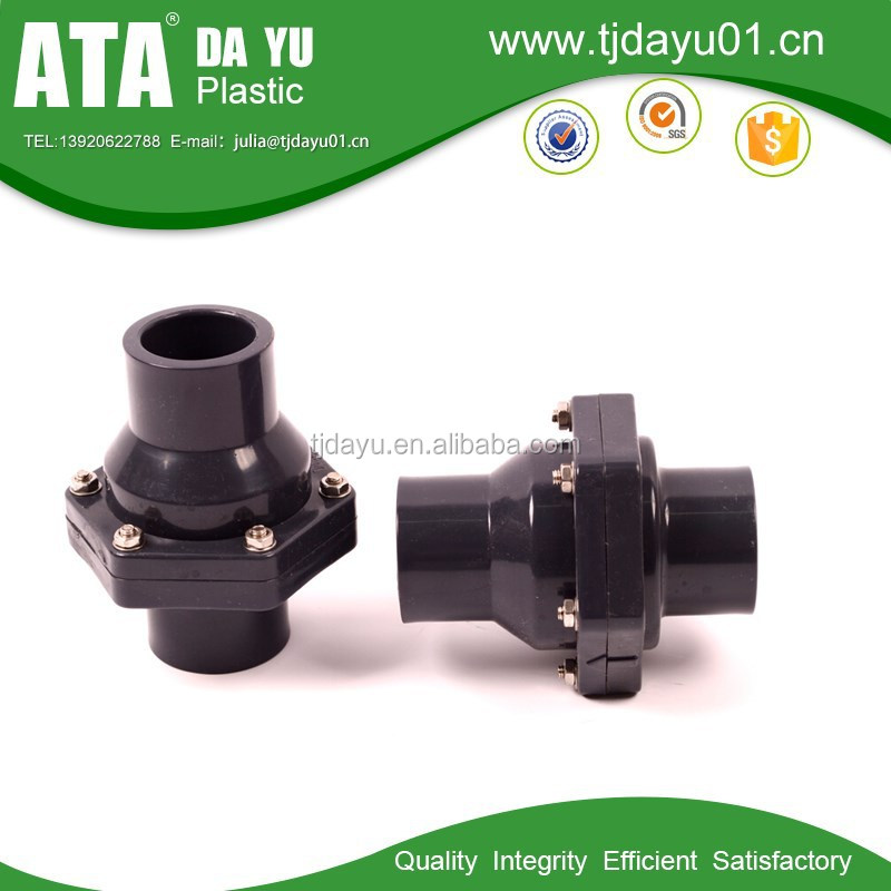 white or grey DIN BS JIS ANSI pvc swing mini plastic check valve pipe valves
