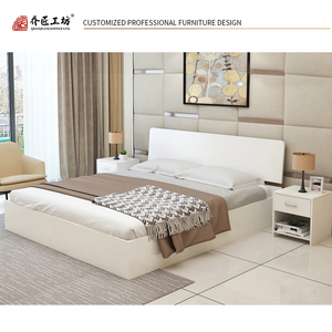 Latest Arrival Simple Design King Size Wooden Bed Frame With Storage Wooden Box Bed