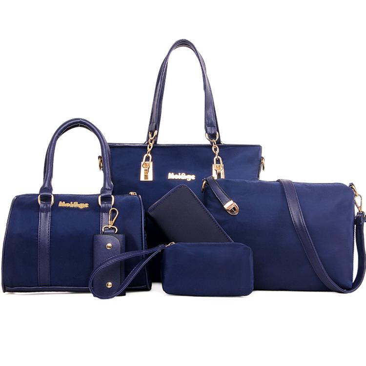 6eb89ea026 Luxury 2018 New designer China women pure PU Leather Elegant tote bags nice  colors 5 set in one hand bag ladies pars Set