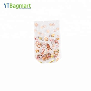 YTBagmart square bottom plastic clear poly bags for food