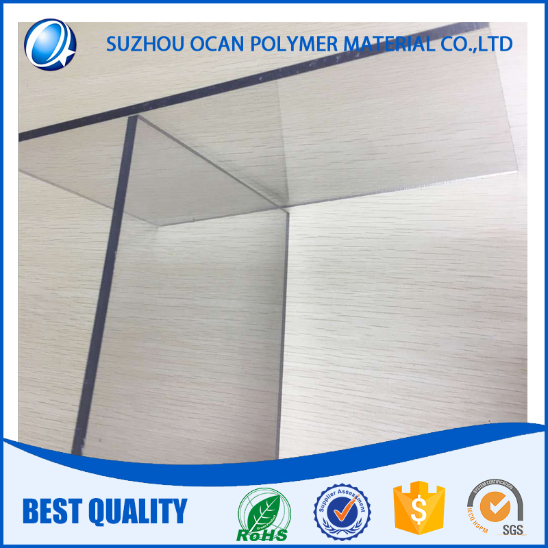 Rigid extruded pvc sheet for advertising board