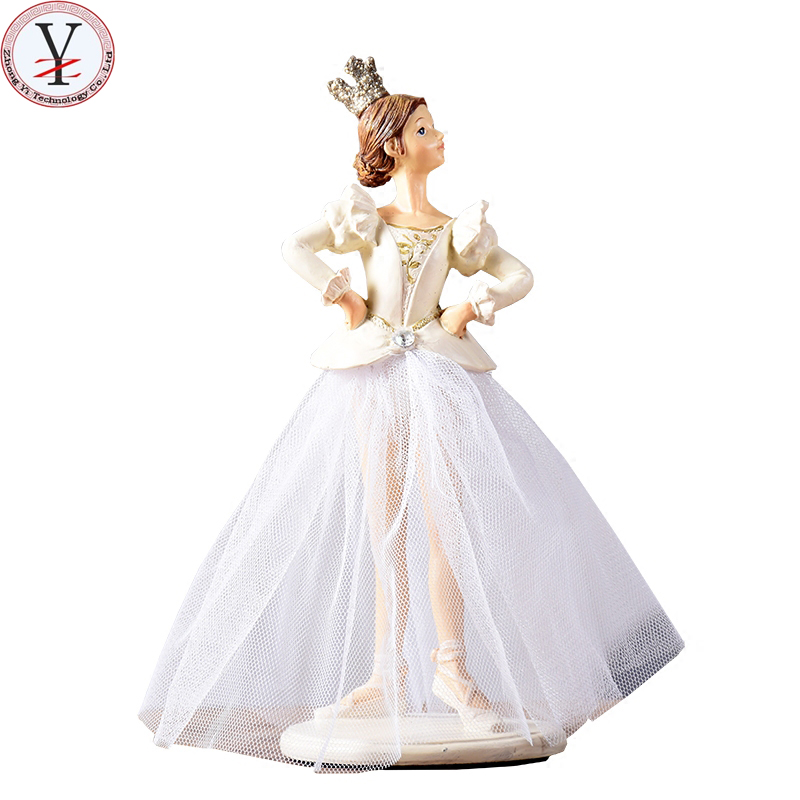 Factory Custom made beste woondecoratie gift polyresin resin angel en ballet meisje