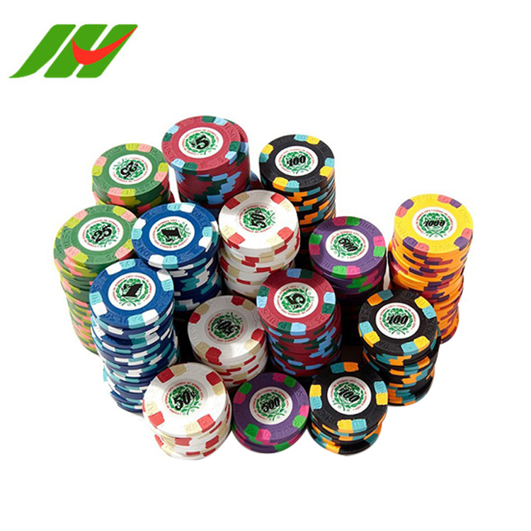 Professionele Poker Chips Set 1000, Poker Chips Om Print, Casino Klei Poker Chips