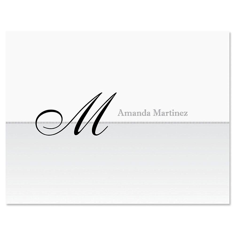 Buy Juliet Initial Personalized Note Card Set - - 24 cards