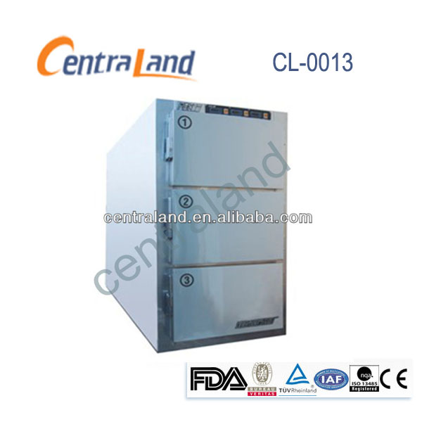 stainless steel morgue freezer mortuary refrigerator