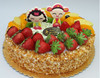 Wholesale fake birthday cake model with fake fruits for shop gifts