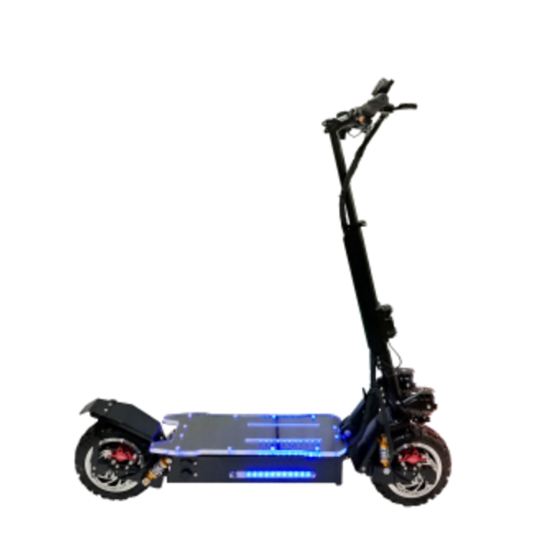 Oil Brake 60v 30a 3200w Electric Scooter 3000w 200kg Load Foldable Powerful Scoter Electrique Folding Electric Golf Scoter, Black