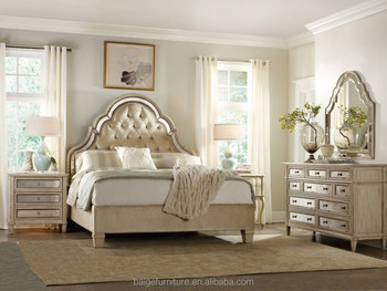 BD 0008 High Glossy Indian Wood Double Bed Designs