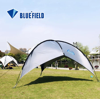 Camping Canopy Tent Tripod Beach Shelter Triangular Windproof Sun