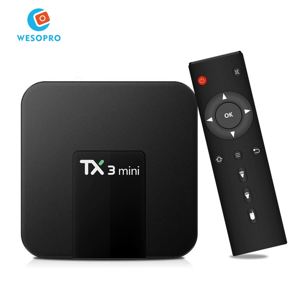 TX3 mini Android 7.1 Smart TV BOX 2GB 16GB Amlogic S905W Quad Core Set-top box H.265 4K WiFi Media <strong>player</strong> with IPTV subscription