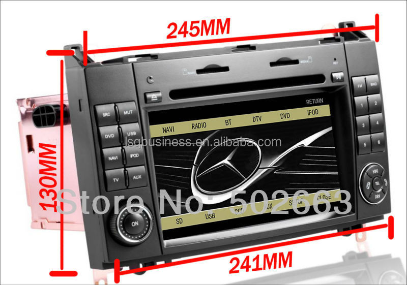 Special Car Multimedia DVD GPS for Mercedes-Benz A160/B200/Viano With Android 4.0 two system Original benz menu 9301