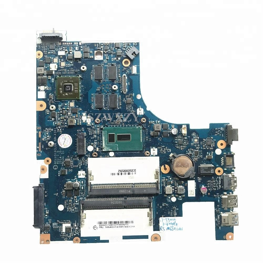High Quality For Lenovo G50-80 Laptop Motherboard 5B20H14391 ACLU3/ACLU4 NM-A361 With I7-5500U 2.4GHz CPU R5 M330/2GB фото