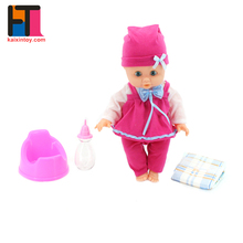 wholesale full body realistic baby reborn vinyl 15 inch craft dolls with feeding bottle