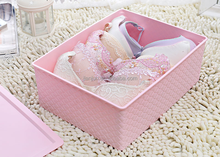 High quality beautiful plastic PP material underware sundries storage box