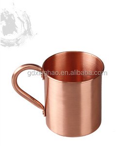 Pure 100% Copper Bar Beer Travel Drinking Mug with Smooth Arc Handle