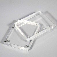 custom clear acrylic cube block frame with magnets for pictures/images/photos