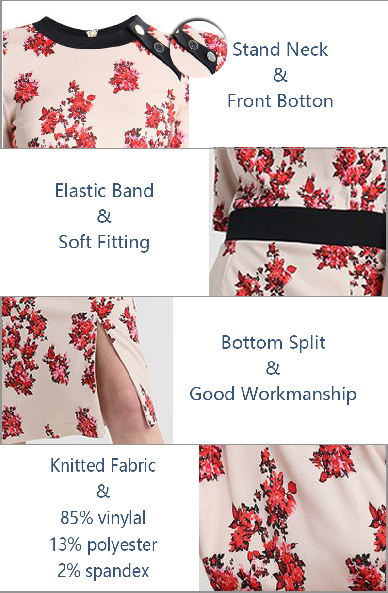 Fashion Clothing For Lady Printed Women Office Dress
