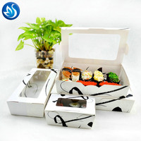 Disposable sushi Take away packing lunch box with window