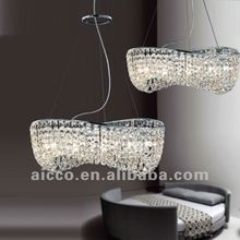 2012 hot sell popular modern crystal hanging ceiling pendant