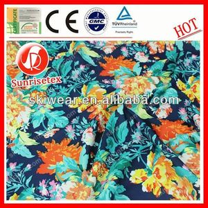 2015 wholesale new design flower printed organza fabric