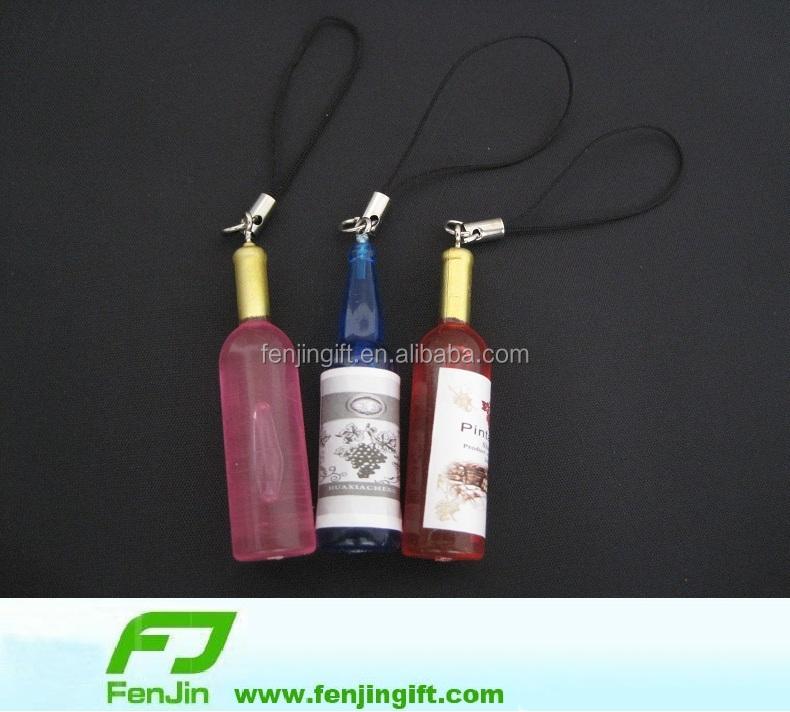 Mini Plastic Bottle Keychain Beer Promotion Ideas