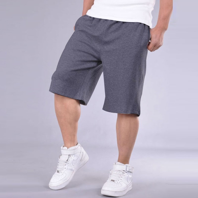 Big Size Shorts Men Solid Baggy Loose Elastic Shorts Cotton Casual Plus Size Shorts Extra Large