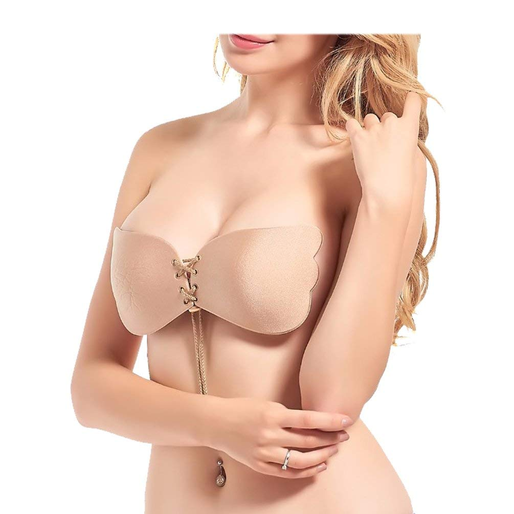 89e0c8f7a4 Get Quotations · Women Sexy Silicone Bra Cups Invisible Strapless Backless  Push Up Bra Solid