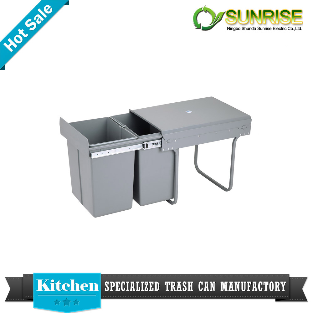 plastic kitchen cabinet build in trash can manufacturer