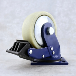 SS High quality 1500 Lbs 150 mm Plate swivel 6 inch Glass-filled nylon caster wheel load with total brake