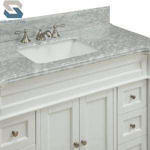 Carrara White Bathroom Countertop Solid Surface Marble Bath Vanity Top price