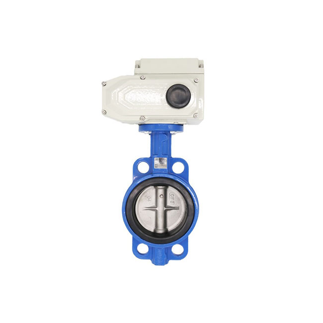 Stainless Steel Lembut Segel Wafer Type Explosion Proof Listrik Butterfly Valve