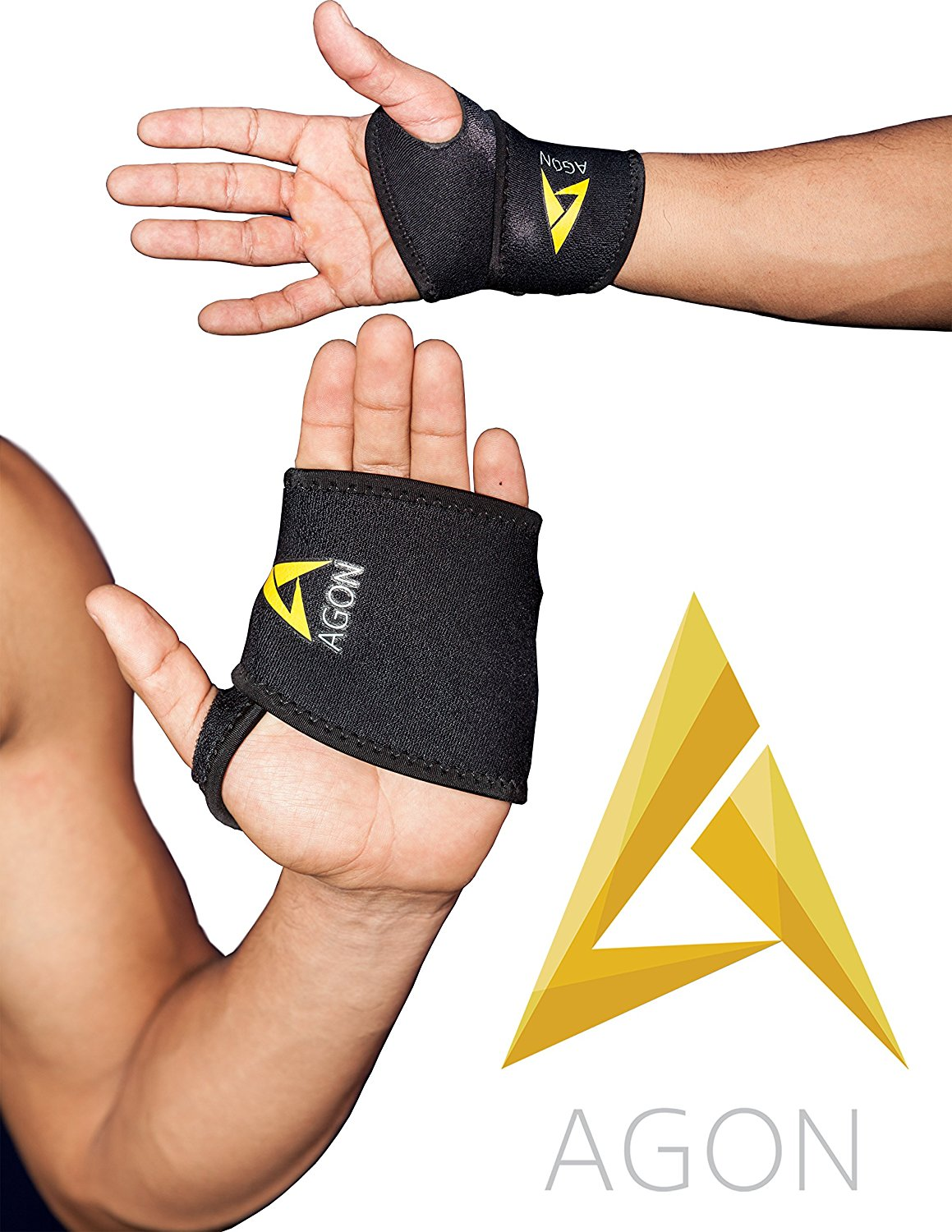 0da0505821 Get Quotations · Agon Adjustable Wrist Brace Support Recovery Neoprene One  Size Fits Most, 1 Compression Sleeve -