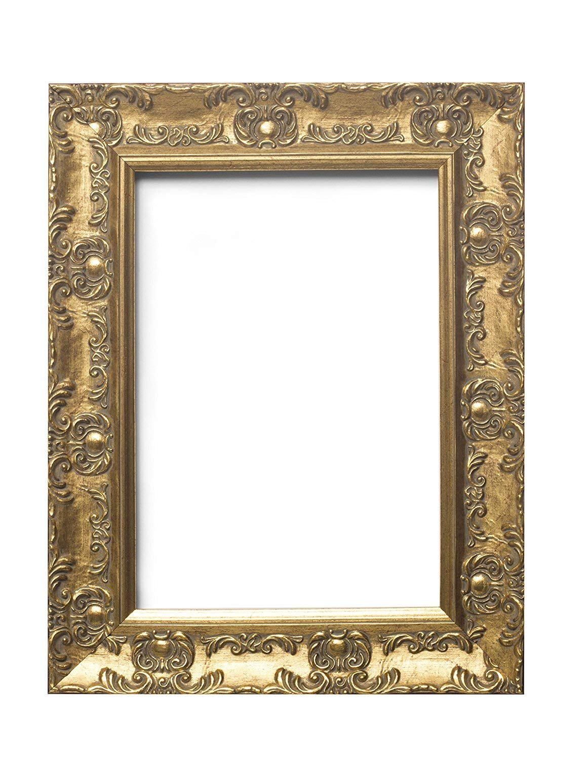 "Paintings Frames Wide Ornate Shabby Chic Antique Swept/Muse Picture/Photo/Poster Frame With An MDF Backing Board Ready To Hang-With Styrene Shatterproof Perspex Sheet Gold- 14""X11"" Gold"