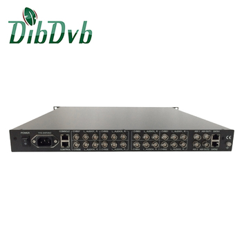 8 canali encoder sd mpeg video encoder audio connettersi a IRD1208 ip per av decoder