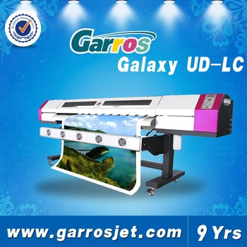 Galaxy ud 1612lc outdoor large format vinyl sticker printer 1 6m 1440dpi