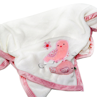 Amazon hot sale embroidered baby blankets flannel infant blankets for winter