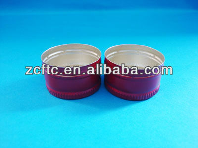 28mm aluminum ROPP bottle cap, aluminum cap for beer wine