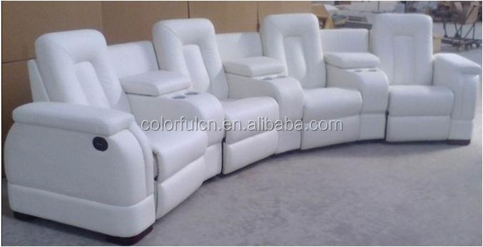 Most Por Vip White Leather Recliner