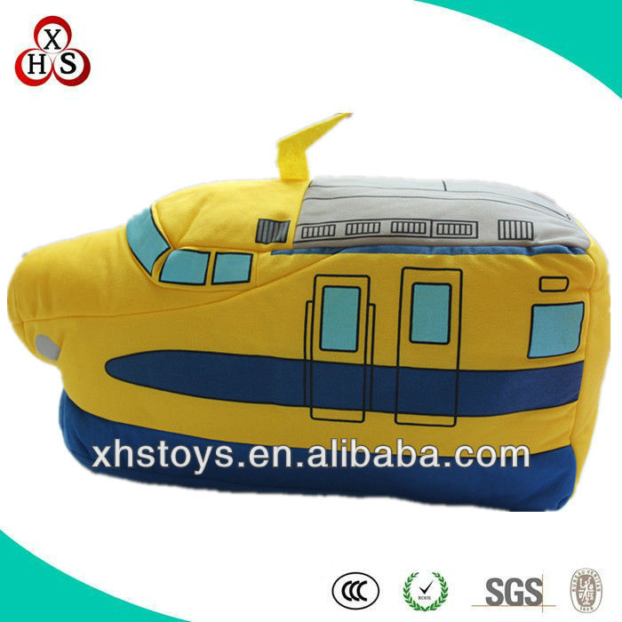 OEM plush Soft toy train, custom made plush toy