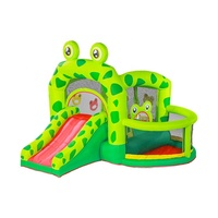 Airmyfun pvc custom kids best sale outdoor wholesale animal bouncy castle slide with pool