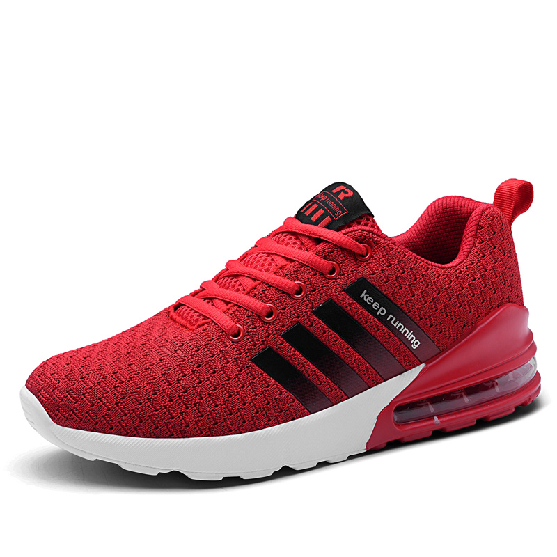 2019 Latest Design Brand Logo Custom OEM Sports Sneakers Lightweight Air Cushion Running Shoes, Black;white;red;green