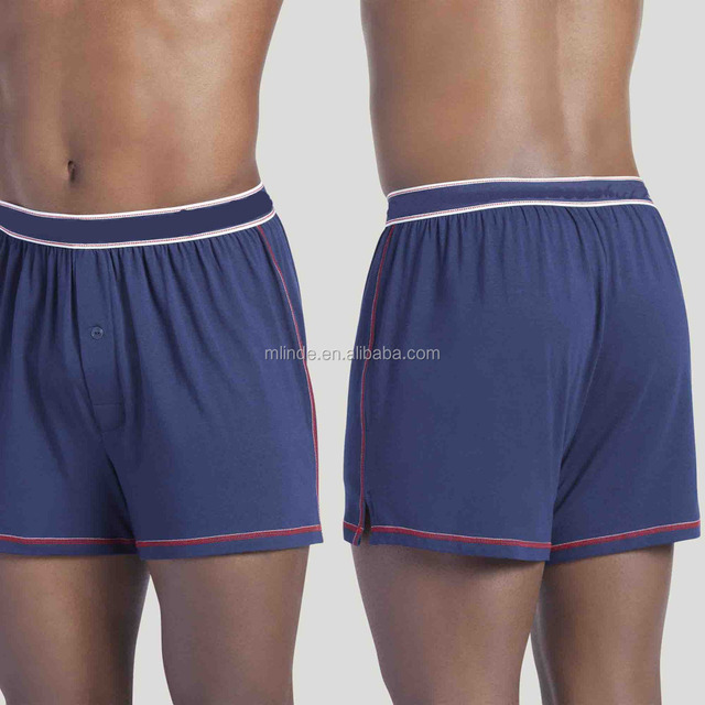 e1d3c996b4f New Modal Cotton Spandx Men s Club Solid Knit Boxer Shorts Underwear Briefs  Wholesale Custom