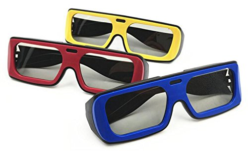 [3 Pack] 3D Glasses For Adult Men and Women,Polarized Passive 3D Glasses For Passive 3D Televisions,3D RealD Movies, 3D Theaters Cinema System