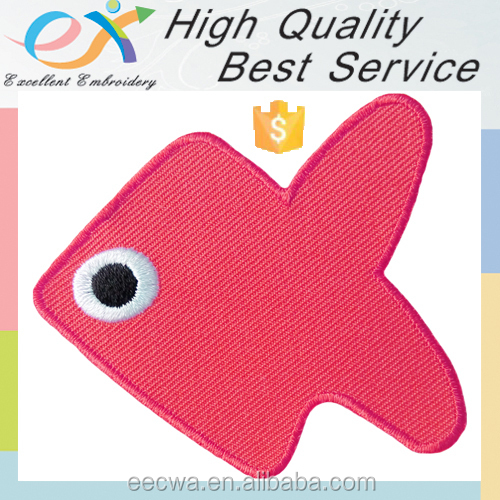 Trade Assurance iron-on embroidery fish patches