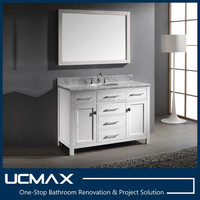 luxury 48 inch matte white bathroom vanity