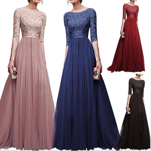 c10027a 2018 elegant women long prom dresses chiffon maxi evening dresses